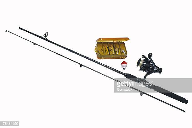 Fishing pole and tackle box