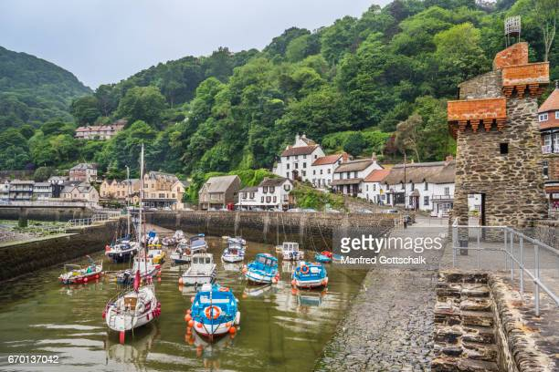 fishing port of lynmouth north devon - lynton stock pictures, royalty-free photos & images