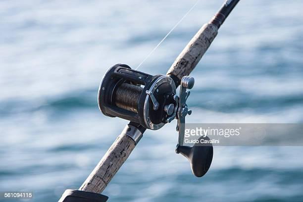 Fishing reel, close up