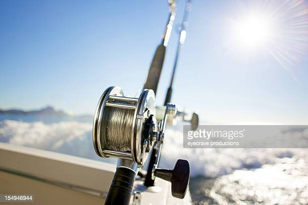 fishing reel pacific ocean sports - big game fishing stock photos and pictures