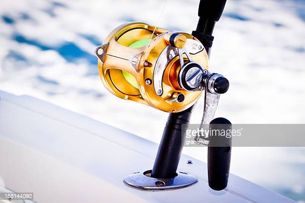 fishing reel - big game fishing stock photos and pictures