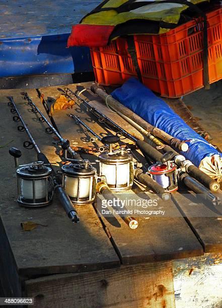 Fishing rods await the night
