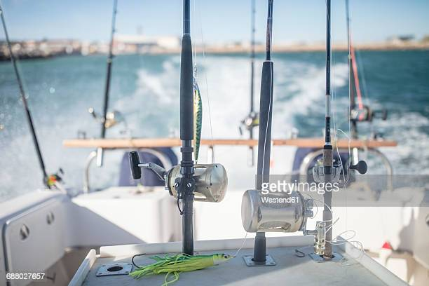 Fishing rods on moving boat