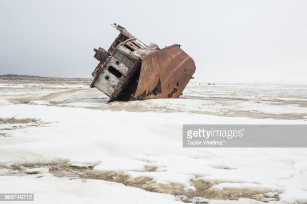 A fishing ship sits abandoned on the surface of the dried up Aral Sea in Kazakhstan The Aral Sea once the fourthlargest lake in the world started...