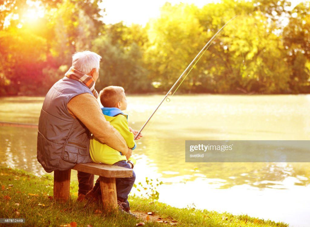 Fishing together. : Stock Photo