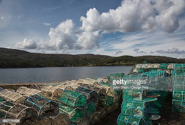 Fishing traps along the coast