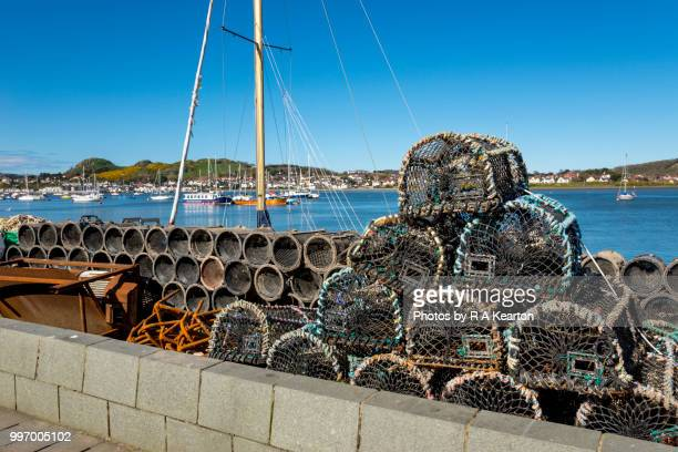 Fishing traps on the harbour at Conwy, North Wales