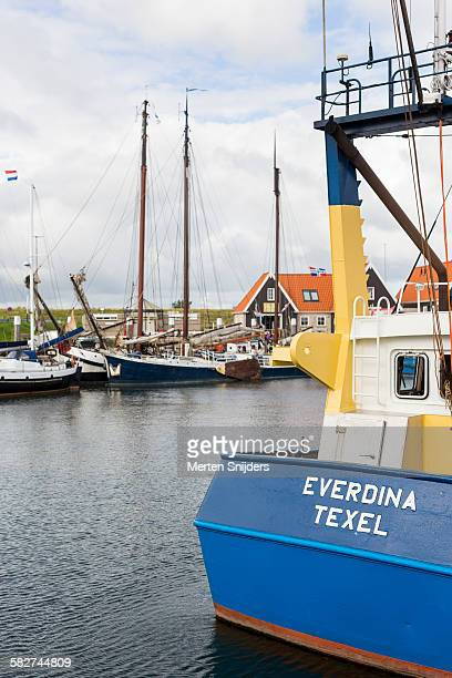 Fishing vessel in harbor of Oudeschild