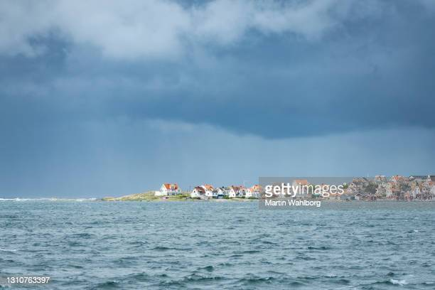 fishing village in outer archipelago of gothenburg - västra götaland county stock pictures, royalty-free photos & images