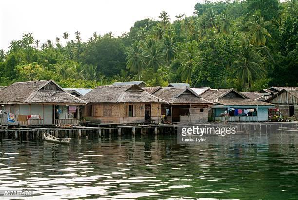 ISLANDS SULAWESI INDONESIA A fishing village in the Togean islands in Sulawesi Indonesia