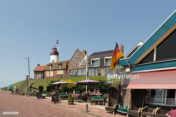fishing village of urk, the netherlands - flevoland stockfoto's en -beelden