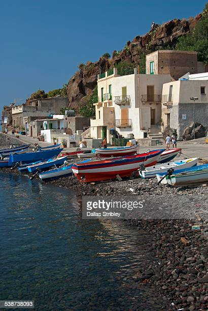Fishing village on the island of Alicudi, Sicily