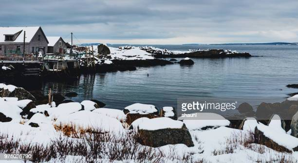 fishing village - seascape stock pictures, royalty-free photos & images