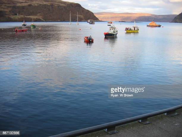 fishing village portee, scotland - fishing village stock pictures, royalty-free photos & images