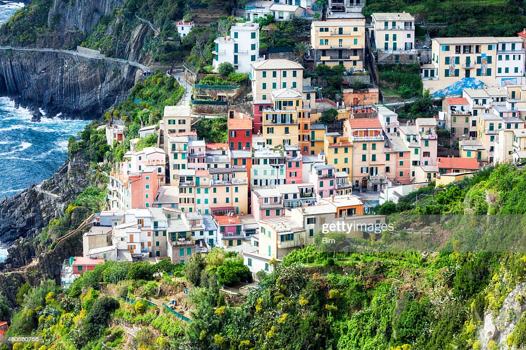 Fishing village Riomaggiore, La Spezia, Cinque Terre, Italy : Stock Photo