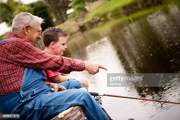 Fishing With Grandpa, Side View