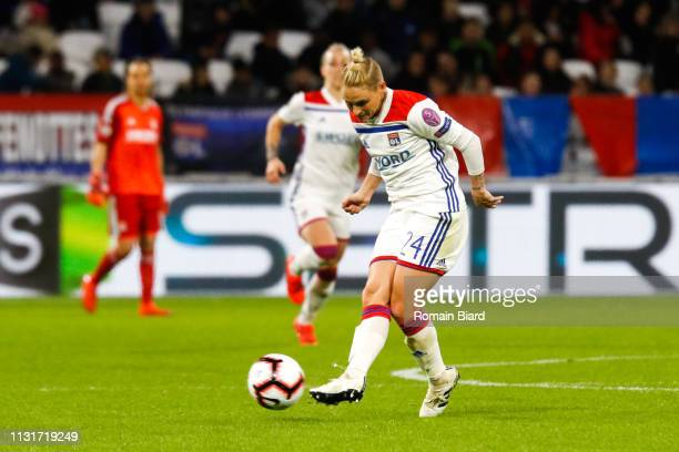 Fishlock Jessica Anne of Lyon during the Women's Champions League match between Lyon and Wolfsburg on March 20 2019 in Lyon France