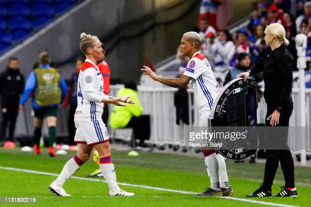 Fishlock Jessica Anne of Lyon OUT Van De Sanden Shanice of Lyon IN during the Women's Champions League match between Lyon and Wolfsburg on March 20...