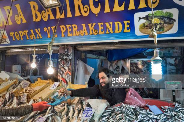 Fishmarket at Kemeralti Izmir Turkey