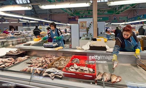 Le Fishmonger'à Riga, Lettonie Central Market