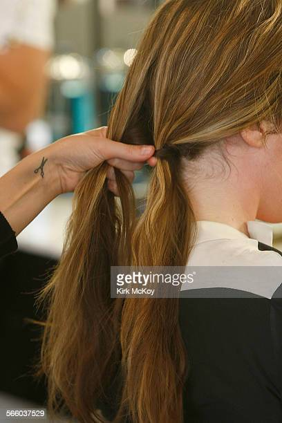Fishtail braid – Stylist Mara Roszak of Andy Lecompte Salon West Hollywood Make a clean part in your hair either down the middle or to the side From...