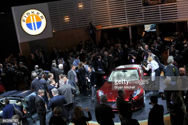 Fisker Automotive shows off the Karma S plugin hybrid during the second press preview for the Detroit International Auto Show at the Cobo Center...