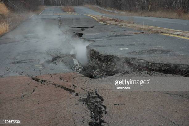 Fissure through Road