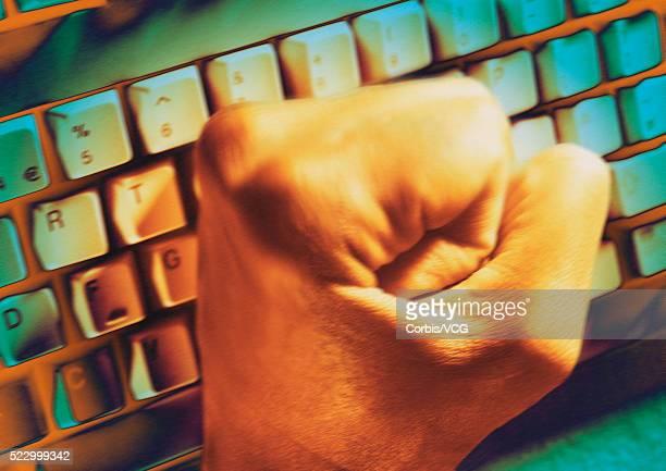 Fist Hitting Keyboard