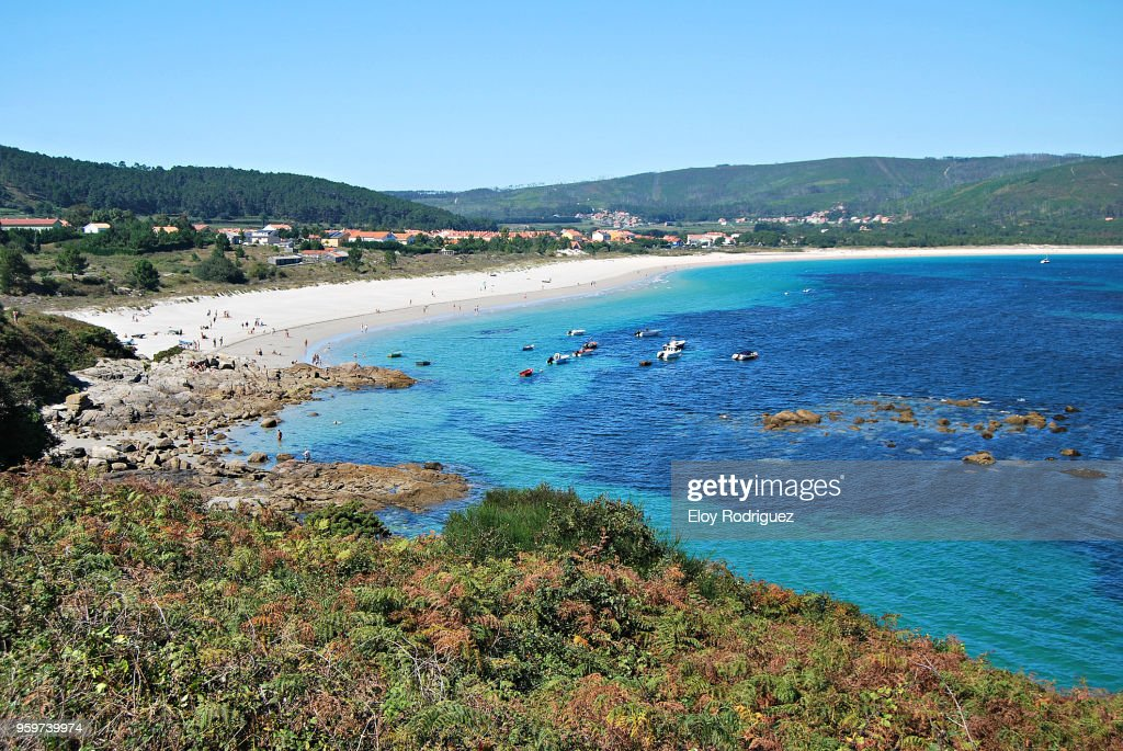 """Fisterra (Finisterre, Finis Terrae), """"Costa da Morte"""".- A Coruña - Spain : Stock-Foto"""