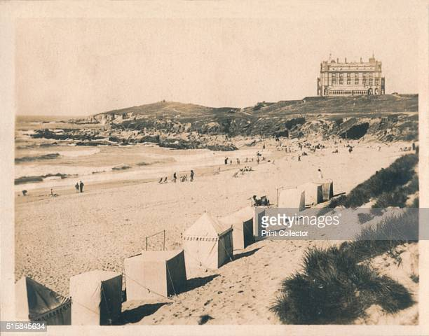 'Fistral Beach Newquay' 1927 Featuring The Headland hotel which opened in 1900 It was used as the location for the film 'The Witches' which was...