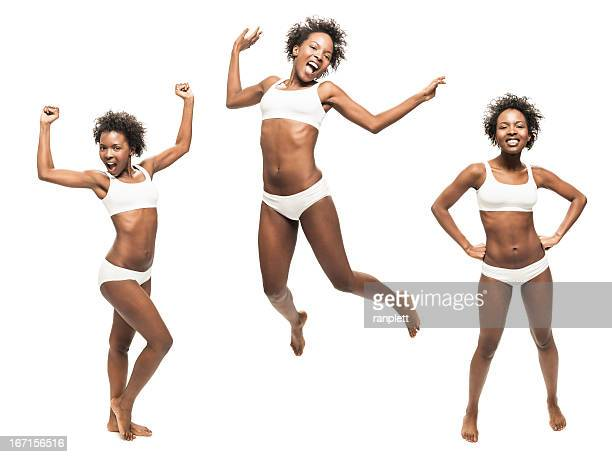 Fit African American Woman (Isolated on White)