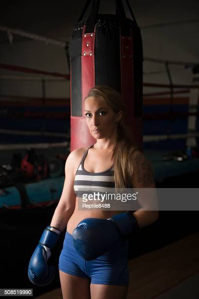 fit female body - mixed boxing stock photos and pictures