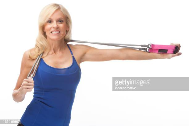 Fit Fifty Year Old Woman Working Out