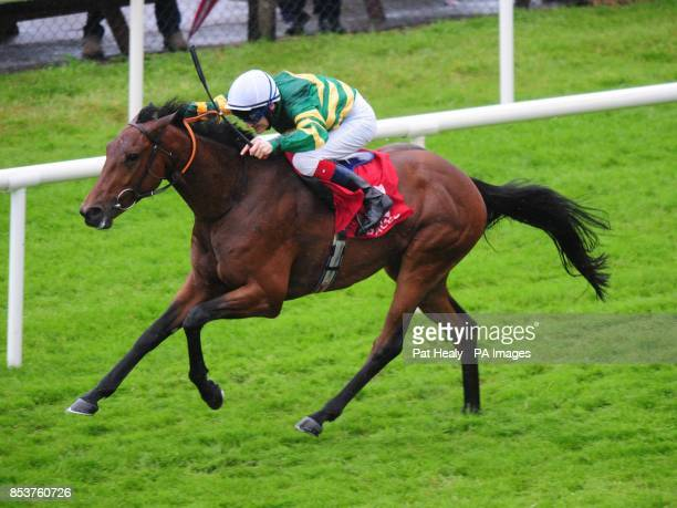 Fit For The Job ridden by Fran Berry win the Guinness 1759 EBF Median Auction Maiden on day five of the Galway Festival at Galway Racecourse Ireland