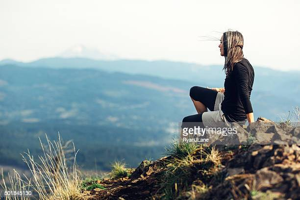 Fit Mature Woman at Mountain Viewpoint