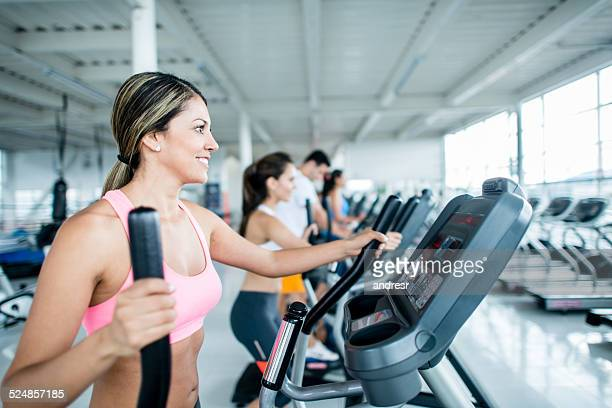 Fit people at the gym