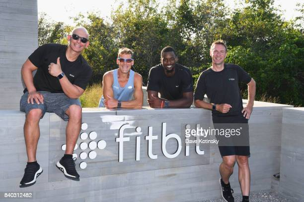 Fitbit Ambassadors Harley Pasternak Dean Karnazes Harrison Barnes and Jens Voigt attend Fitbit Day 1 on August 21 2017 in Montauk New York