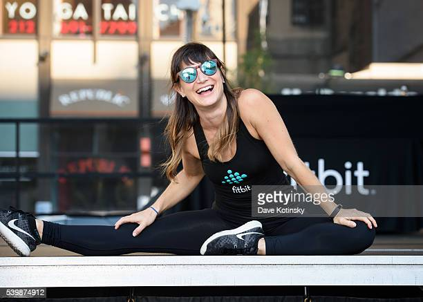 Fitbit Local Ambassador Lauren Taus leads the Launch Of Fitbit Local Free Community Workout on June 12 2016 in New York City