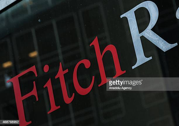 Fitch Ratings leading international credit rating institution in New York on April 6 2015 US stocks closed higher led by gains in energy shares as...