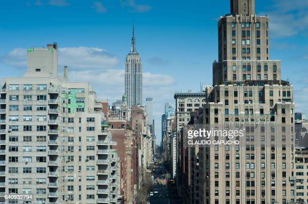 fith avenue seen from above - claudio capucho stock photos and pictures