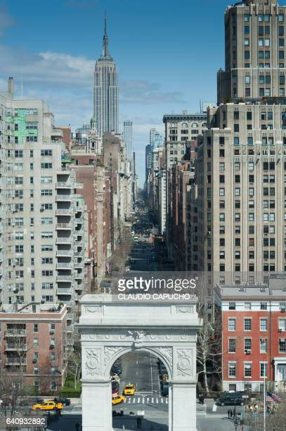 fith avenue seen from above - claudio capucho stock pictures, royalty-free photos & images