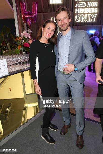 Fitna Ludwig and Ben Blaskovic during the Business Women's Society launch event at Lovelace Hotel on March 6 2018 in Munich Germany