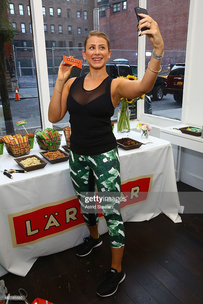 Fitness and nutrition enthusiast Lo Bosworth teams up with LÄRABAR Original Fruit & Nut Bars to fuel runners at Mile High Run Club in New York on Wednesday, July 29, 2015.