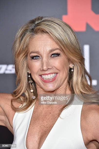 Fitness author Denise Austin attends Bleacher Report's 'Bleacher Ball' presented by go90 at The Mezzanine prior to Sunday's big game on February 5...