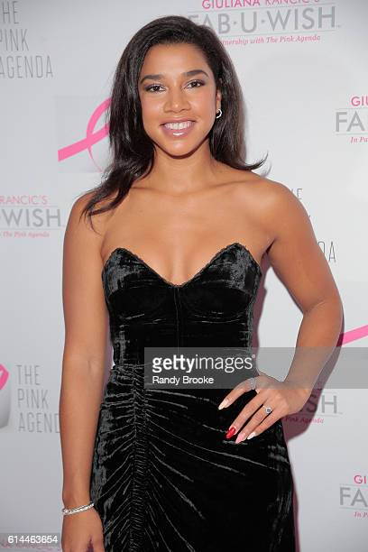 DJ Fitness Blogger Hannah Bronfman poses during The Pink Agenda 2016 Gala arrivals at Three Sixty on October 13 2016 in New York City
