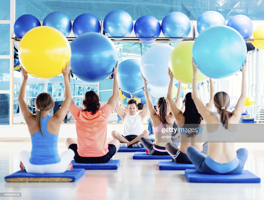 Fitness class at the gym : Stock Photo