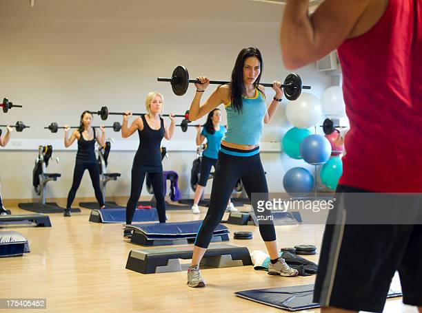fitness class - barbell stock pictures, royalty-free photos & images