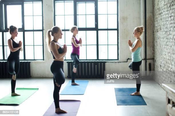lezioni di fitness - solo adulti foto e immagini stock