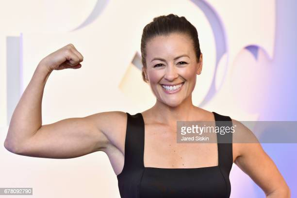 Fitness coach Anna Renderer attends POPSUGAR 2017 Digital NewFront at Industria Studios on May 3 2017 in New York City