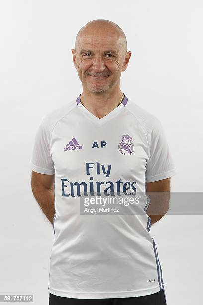 Fitness coach Antonio Pintus of Real Madrid poses during a portrait session at Valdebebas training ground on August 18 2016 in Madrid Spain